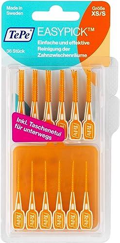 TePe EasyPick Cure-dents interdentaires - Pour une hygiène bucco-dentaire parfaite en toutes circonstances - Taille X...