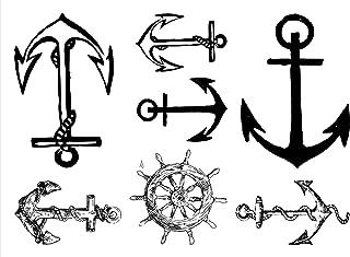 Anchor Temporary Tattoos Sailor Waterproof Tattoo Stickers 2pcs/lot