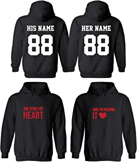 Design Your OWN Cool Matching Hoodies- Boss& Stole My Heart& Husb - Wife Theme
