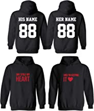 Couples Apparel Design Your OWN Cool Matching Hoodies- Boss& Stole My Heart& Husb - Wife Theme
