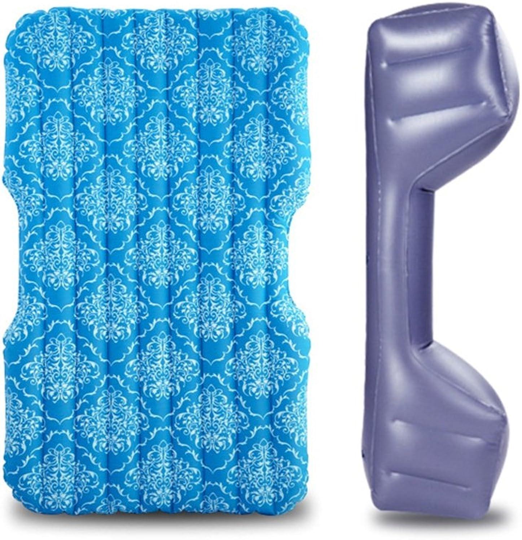 Car bed HUO Mode-Druck-aufblasbare Matratzen-Luft-Auto-Bett-Mehrzweckim Freiensofa Für Reise-kampierendes Fischen-Blau