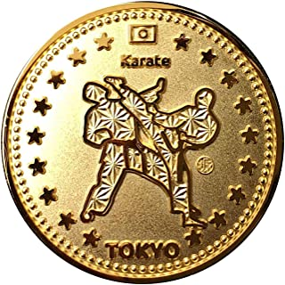 TOKYO SPORTS 記念 アスリートコイン Gold 空手 Karate Gold Coin Athlete Coin 高級磨き仕上げ 本金メッキ 日本製 オリジナルケース入り Made in Japan 東京 スポーツ