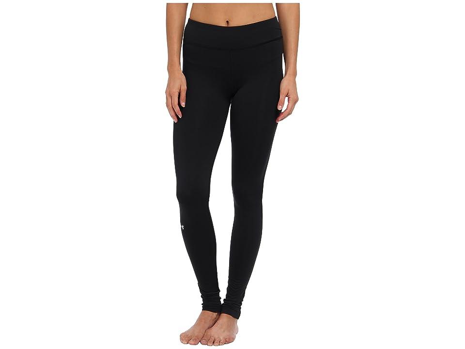 Under Armour UA Authentic Coldgear(r) Legging (Black/Metallic Silver) Women's Workout