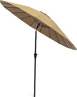 Best Choice Products 8.5ft Outdoor Steel Market Patio Umbrella w/Easy Tilt, Crank Adjustment, Single Wind Vent