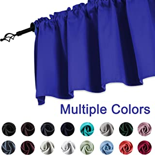 KEQIAOSUOCAI Royal Blue Window Valance 52 Inch by 18 Inch Blackout Valance Curtains for Kitchen Bathroom 1 Panel