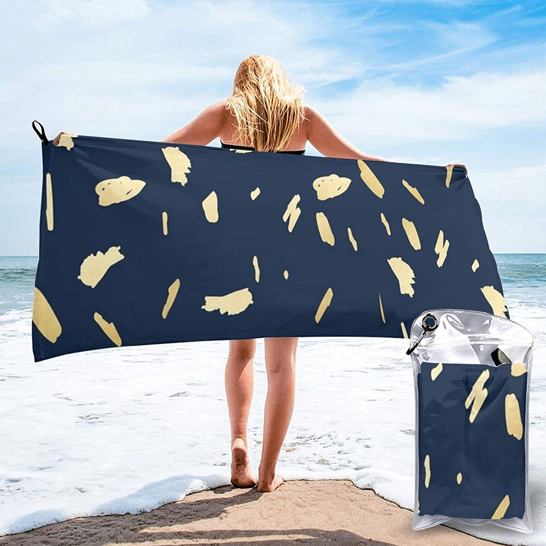 N\\A Gold Paint Blobs Beach Towel Absorption Water S Towels Bath mart quality assurance