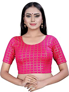 Women's Stretchable Cotton Lycra Stitched Blouse (Best fit for 28 to 34 Inch)