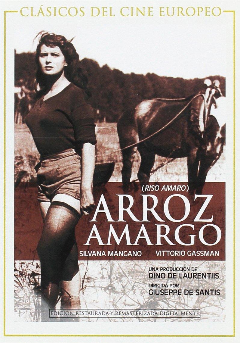 Arroz amargo DVD Amazones Silvana Mangano Vittorio Gassman Giuseppe  de Santis Silvana Mangano Vittorio Gassman Dino de Laurentiis Pelculas  y TV