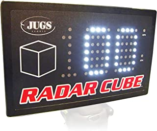 Jugs Radar Cube — Sports Radar. Clock speeds from 32 mph–100+ mph. Large Bright 3'' LED Numbers. Portable Compact Design.