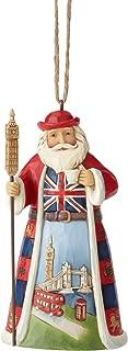 Enesco Jim Shore Heartwood Creek British Santa Hanging Ornament, 4.5