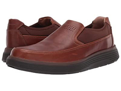 Clarks Un Abode Go (Dark Tan Leather) Men