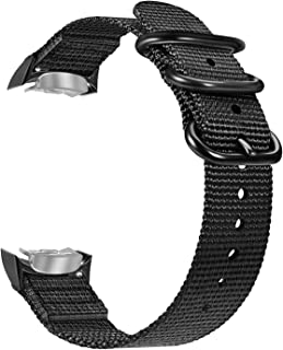 Fintie for Gear S2 Band, Soft Woven Nylon Adjustable Replacement Sport Strap with Adapters for Samsung Gear S2 SM-R720 SM-R730 Smart Watch, Black