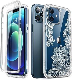 i Blason Glitzer Hülle für iPhone 12 / iPhone 12 Pro (6.1'') Handyhülle 360 Grad Case Bumper Schutzhülle Cover [Cosmo] mit Displayschutz 2020, Lace