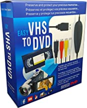 VHS to Digital DVD Converter, USB2.0 Audio/Video Capture Grabber Adapter Device,Transfer VCR TV Hi8 Game S Video to DVD,Support Windows 10/8.1/8/7/Vista/XP