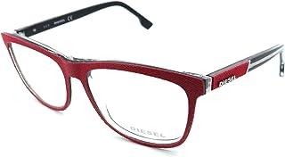 2f1149cc9725 Diesel Rx Eyeglasses Frames DL5191 068 54-15-145 Red Denim on Transparent  Black