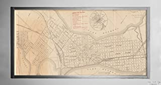 1893 Map Wisconsin|Dane|Madison of Madison, Wisconsin : A.A.A.S. XLII Meeting, August 17-24, 189|Historic Antique Vintage ...
