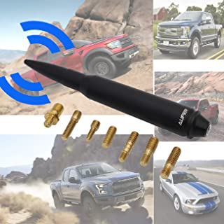 AUFER 5.7 Aluminum Bullet Antenna Fit for 2006-2017 GMC Sierra 1500/2004-2006 Chevy Colorado / 2007-2017 Jeep Compass