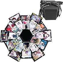 Creative Black Explosion Box,DIY Photo Album Surprise Box,Love Memory Scrapbooking Gift Box for Birthday Christmas Anniversary Wedding Valentine Gifts