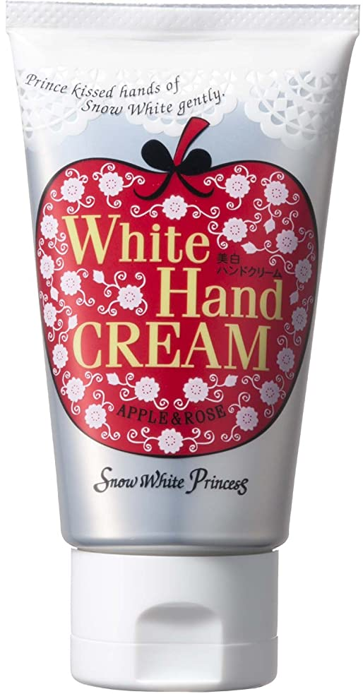 インドレタッチ主要なスノーホワイトプリンセス ホワイトハンドクリーム 赤りんご50g