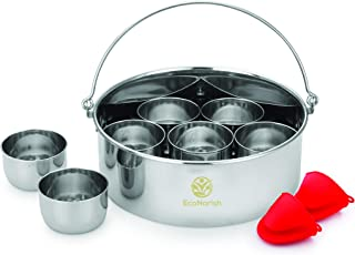 EcoNarish 6QT Cheesecake pan with 7 egg bite cupcake brownies bread pudding dessert molds with removable bottom oven mitts...