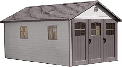 Amazon com : Lifetime 60079 Outdoor Storage Dual Entry Shed