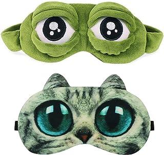 Sovmask, ögonmask, kattmask och grodmask.