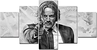 John Wick Movie Canvas Posters Home Decor Wall Art Framework 5 Pieces Paintings for Living Room HD Prints Pictures