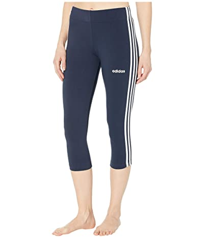 adidas Essential 3-Stripe 3/4 Tights (Legend Ink/White) Women