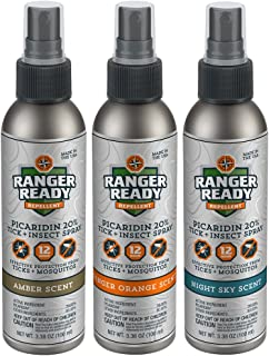 Picaridin 20% Tick + Insect Repellent Spray   Variety Travel Pack   3X 100ml/3.4oz