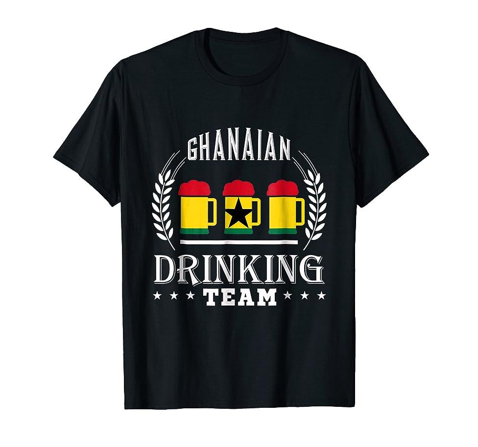 Beer Ghanaian Drinking Team Casual Ghana Flag T-Shirt