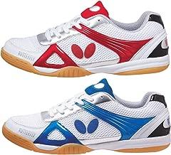 حذاء تنس طاولة Butterfly Trynex - حذاء أنيق لثونغ - المقاسات 4.5-10 - أبيض/أزرق أو أبيض/أحمر - حذاء رياضي للرجال أو النساء