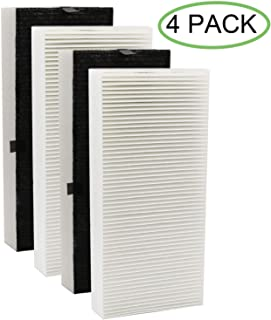 4 Pack True HEPA Filter Replacement for Honeywell U Filter HRF201B Compatible with Honeywell HHT270, HHT290 Series Air Cleaner