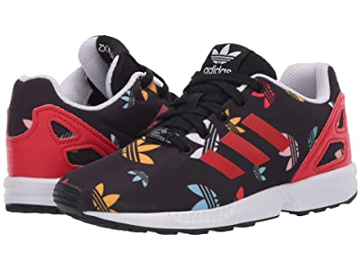 adidas Originals Kids ZX Flux EL (Little Kid) (Black/Lush Red/White) Kids Shoes