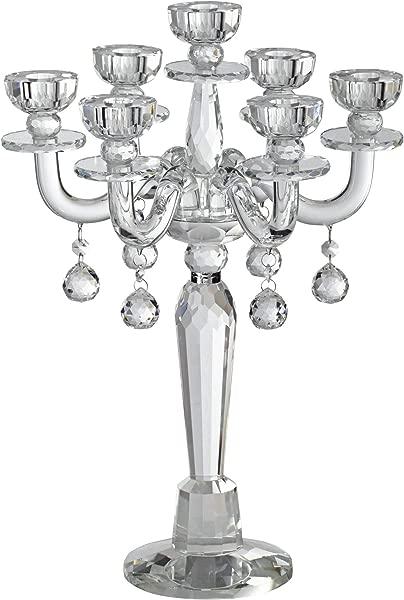大丽花工作室亨廷顿 19 高水晶烛台锥形烛台