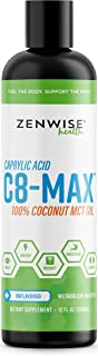 Pure C8 MCT Oil - C8-MAX Caprylic Acid Supplement - Natural Keto Friendly Formula for Weight Loss & Metabolism + Clean Ene...