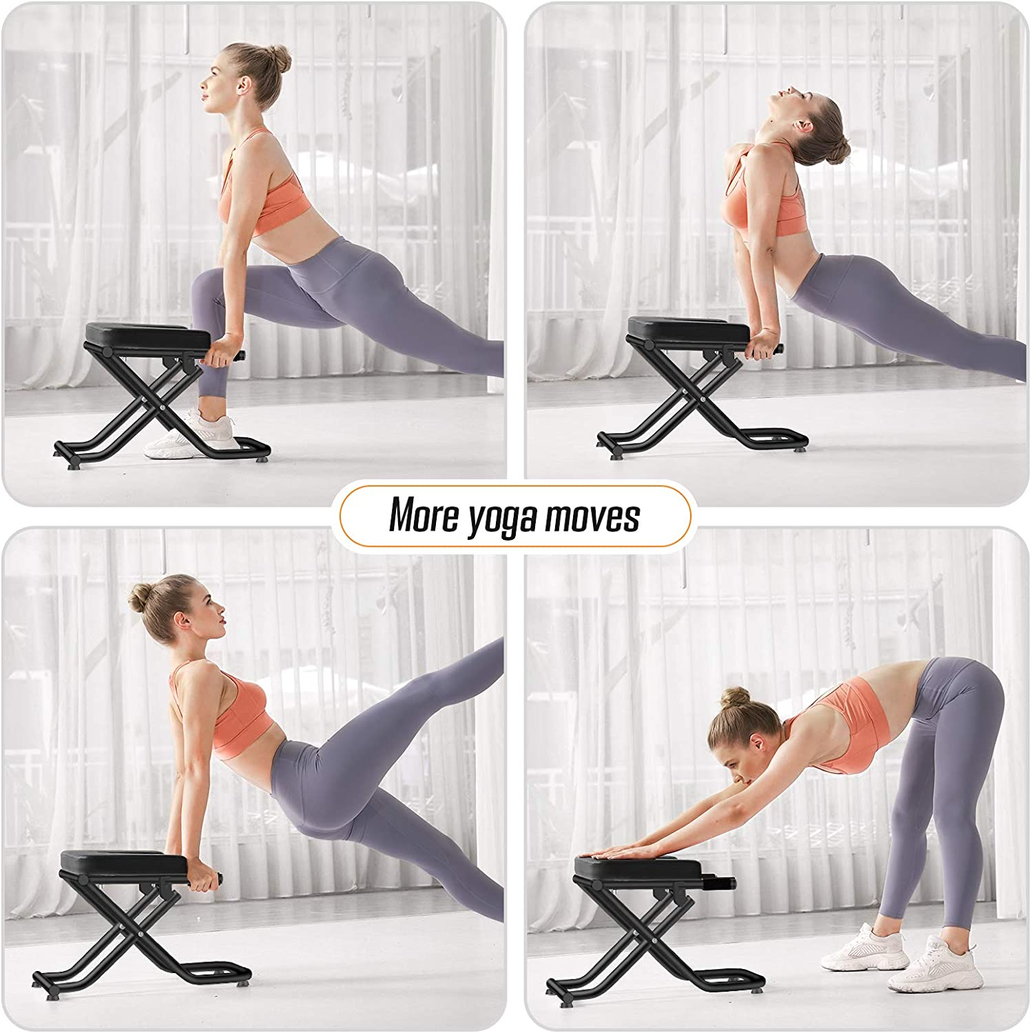 FITDO Yoga Headstand Bench,Stand Yoga Chair for Inversion Safely /& Easily,Shape Body /& Relieve Fatigue/…