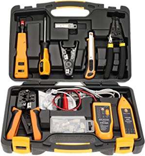 InstallerParts Network Repair Tool Kit 15 In 1 – Electronic Tool Set | Crimping Tool, LAN/Ethernet/Cat5/Cat6 Cable Tester,...