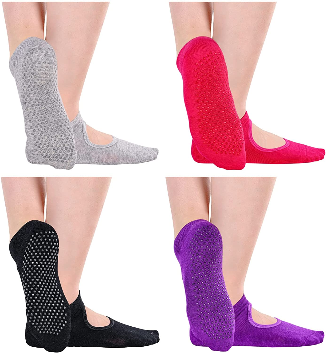 SOCKFUN Safety and trust Yoga Socks with Grips for Pilates Women Dance Ball Barre Cheap super special price