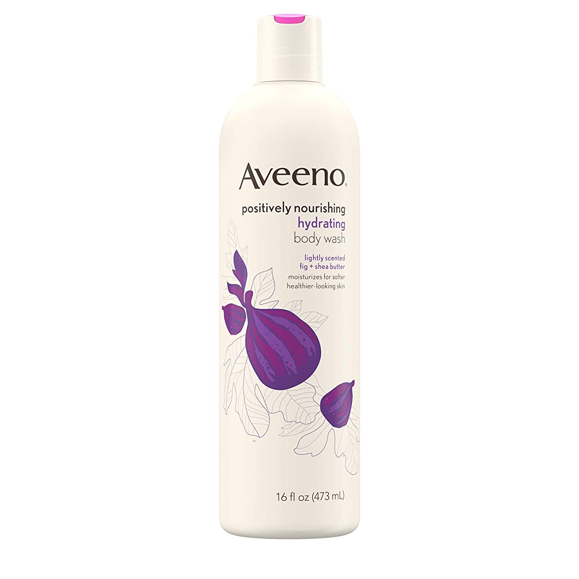 枠病気反射New Aveeno Positively Nourishing New Aveeno Ultra Hydrating Body Wash, 470ml