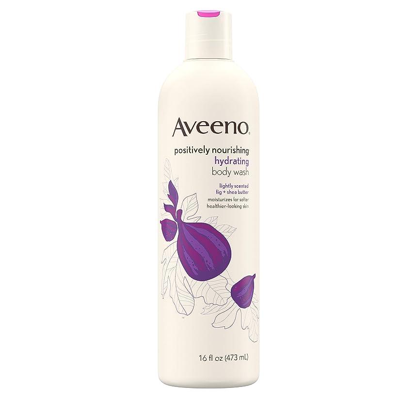 遺棄された耐える引くNew Aveeno Positively Nourishing New Aveeno Ultra Hydrating Body Wash, 470ml