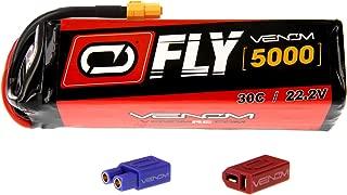 Venom Fly 30C 6S 5000mAh 22.2V LiPo Battery with UNI 2.0 Plug (XT60/Deans/EC3) - Compare to E-flite EFLB50006S30