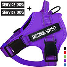 voopet Service Dog Harness, No-Pull Emotional Support Pet Vest Harness, Reflective Breathable and Adjustable Pet Halters for Small Medium & Large Dogs (with 4 PCS Dog Velcro Patches)