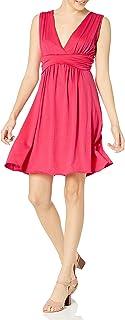 ستار فيكسن فستان خصر عالي للنساء بدون أكمام