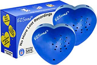 EZSound Teddy Bear Voice Recorder | 2 Pack - 30 Seconds Toy Voice Box for Stuffed Animal | Create Your own Recordable Gift...