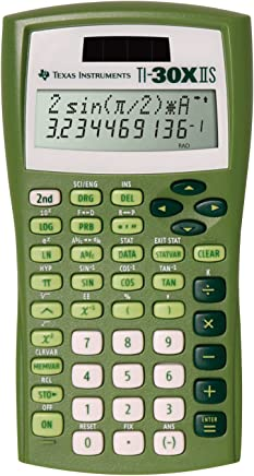 $26 » Texas Instruments TI-30X IIS 2-Line Solar/Battery-Powered Scientific Calculator, Lime Green