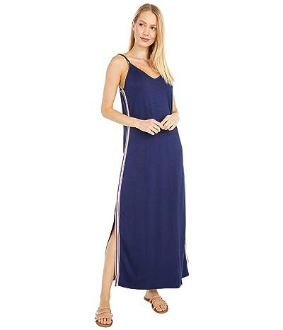 Splendid Midi Nightgown w/ Slits (Peacoat) Women
