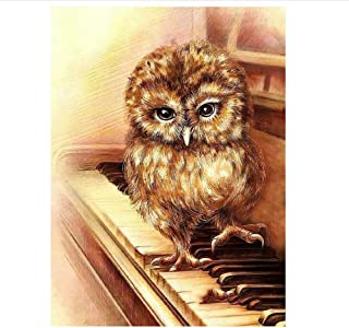 Classic Jigsaw Puzzle 1000 Piece Adult Children Puzzle Wooden Puzzle DIY Owl Playing The Piano Modern Home Decor Festival Gift Intellectual Game Wall Art 75x50cm