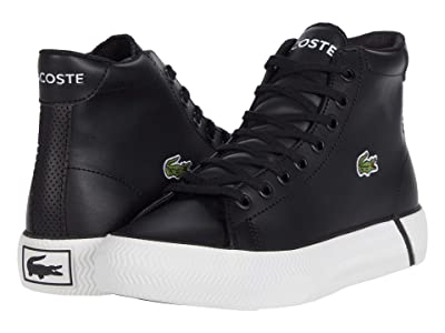 Lacoste Kids Gripshot Mid 0120 2 CUJ (Little Kid/Big Kid) (Black/White) Kid