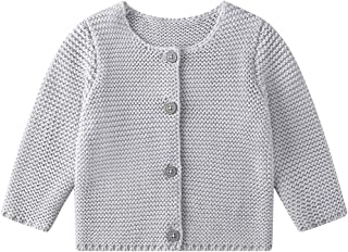 Baby Girls Boys Spring Cardigan Sweaters Toddler Button-Down Cotton Coat Knitted Outerwear