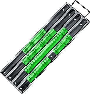 SWANLAKE 80-Piece Portable Socket Organizer, 1/4-Inch, 3/8-Inch, 1/2-Inch, Premium Quality Socket Holders